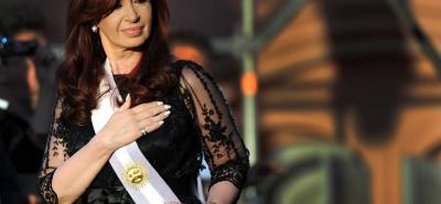 Cristina Fernández de Kirchner, actual candidata al Senado por la provincia de Buenos Aires.