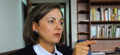 María del Rosario Guerra, senadora del Centro Democrático.