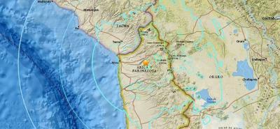 El epicentro del sismo se localizó a 38 kilómetros al suroeste de la localidad de Putre.