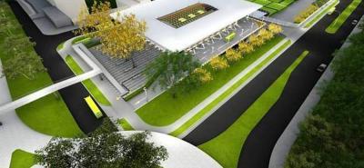 El Portal de Piedecuesta tendrá paneles solares y permitirá la captación de aguas lluvias que se reutilizarán para el lavado de los buses y el aseo de la estación.