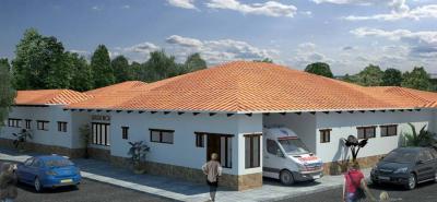 Este es el render de la ESE Hospital Nuestra Señora de Las Nieves que se construirá en este municipio, en un plazo de un año.