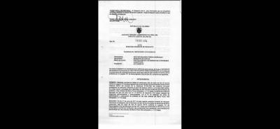 El documento se dio a conocer el pasado 18 de octubre del presente año.