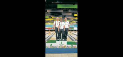 Nelson Martínez, Emerson Montañez y Edward Cáceres le dieron la medalla de oro a Santander en la modalidad de tríos en el Nacional de Segunda Fuerza disputado en Medellín.