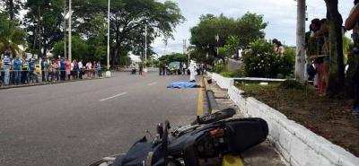El accidente en el que perdió la vida Alexander Leal se registró en una de las principales vías de Barrancabermeja.