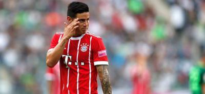 James Rodríguez, el mejor jugador del Bayern según la Bundesliga