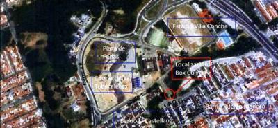 La foto (arriba) corresponde al sitio donde se construirá el box coulvert en la quebrada Suratoque en Piedecuesta y la imagen (abajo), la estabilización de talud en Bellavista de Girón.
