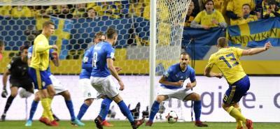 Jakob Johansson (13'), fue el encargado, con un remate de media distancia, de anotar el gol que le dio la victoria a Suecia sobre Italia en el reprechaje europeo.