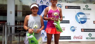 La tenista santandereana María Juliana Parra Romero subió nuevamente a lo más alto del podio en suelo extranjero, al ganar el torneo Cosat de Bolivia que se disputó en Cochabamba.