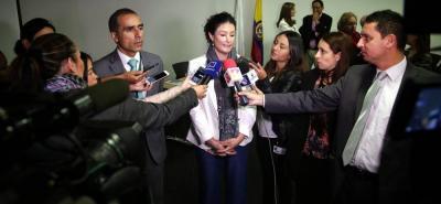 Natalia Ponce de León estuvo en la socialización de la circular para la atención de las víctimas de ataques con ácido.