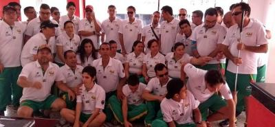La delegación santandereana de deportistas invidentes brilló en Barranquilla durante los XIII Juegos Nacionales organizados por la Federación de Limitados Visuales.