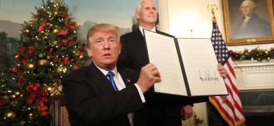 Donald Trump confirmó que su gobierno reconocerá a partir de ahora a Jerusalén como capital de Israel.