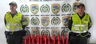 Incautan 100 kilos de pólvora que eran transportados en un bus en Bucaramanga