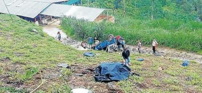 El accidente de tránsito se presentó en el sector conocido como 'La Germania', en zona rural de San Vicente de Chucurí.