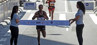 El etiope Leul Aleme fue el ganador de la San Sivestre de Brasil en 2016.