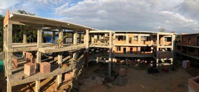 El contratista de la obra estima que el 10 de julio de 2018 quedará terminado el megacolegio.