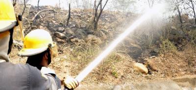 El Cuerpo de Bomberos de Floridablanca atiende incendios en Girón desde mediados de 2017. En 2016, se afectaron 525.000 metros cuadrados de área vegetal, y en 2017, 462.000.