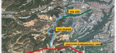 La obra facilitará la conexión directa de toda la zona de Provenza en Bucaramanga con los barrios Balcones de Provenza, Guadales, y Marianela en Girón.