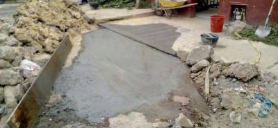 En la carrera 4 un 'cráter' ocupaba el área de ingreso al colegio Balbino García, la empresa de aguas del municipio ya hizo el arreglo.