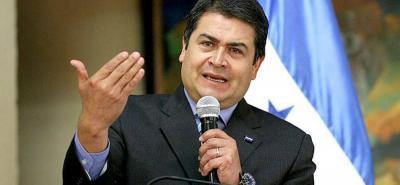 Juan Orlando Hernández fue reelegido presidente de Honduras en noviembre del año pasado.
