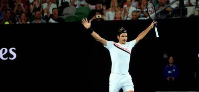 El tenista suizo alcanzó la victoria 1.135 de su carrera, y  la 328 en torneos Grand Slam.