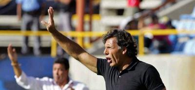El entrenador argentino Miguel Ángel Russo consiguió el título con Millonarios en la Liga Águila II de 2017.