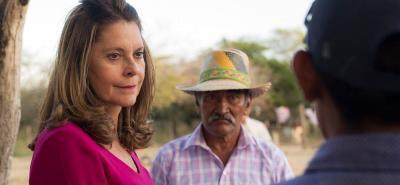 Luego de visitar Venezuela, Marta Lucía Ramírez llegó a hacer campaña en La Guajira.