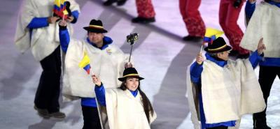 Colombia desfiló con ruanas en los Juegos de Invierno de Corea