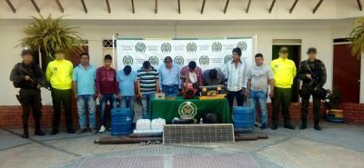 Las capturas se produjeron en tres municipios: Rionegro, Sabana de Torres y Lebrija.