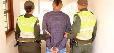Jhon Edinson Jaimes Ordóñez, de 24 años, fue capturado por la Policía en el Palacio de Justicia de Bucaramanga.