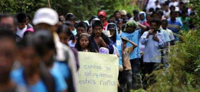 Los organismos alertan al Estado por el desplazamiento masivo en el bajo Cauca antioquieño.