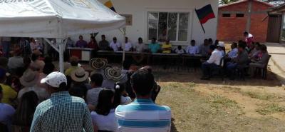 La sesión descentralizada se llevó a cabo en la escuela de la vereda El Boquerón del municipio de San Gil.