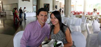 Juan Rubio y Érika Valencia.