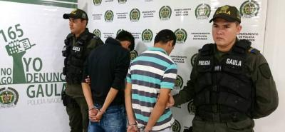 Carlos Maldonado Angulo, de 28 años, y Larry Jácome Bautista, de 31 años, deberán responder por el delito de extorsión.