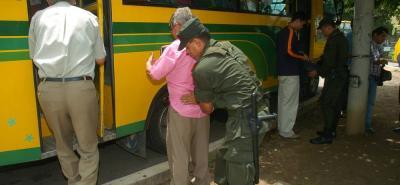 Atraco masivo en un bus de servicio público en Bucaramanga