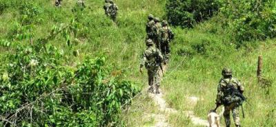 El contacto armado del Ejército y el Eln se dio en el área rural del municipio de Morales.