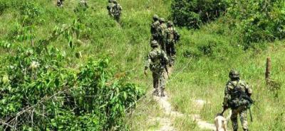 El enfrentamiento armado entre el Ejército y el Eln se dio en el área rural del municipio de Morales.