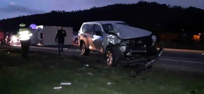 Exsenador santandereano Luis Alberto Gil resultó herido en accidente de tránsito