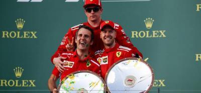 Ferrari inició con pie derecho la temporada 2018 de la Fórmula Uno, al ganar el Gran Premio de Australia con el alemán Sebastian Vettel y terminar tercero con el finlandés Kimi Räikkönen.