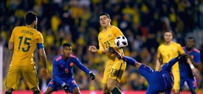 Selección Colombia empata sin goles ante Australia en el primer tiempo