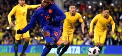Aunque sólo jugó la segunda parte, Miguel Ángel Borja fue la gran figura de Colombia en el duelo de ayer ante Australia. En ese tiempo el delantero fue una pesadilla constante para la defensa rival, lo único que le hizo falta fue anotar.