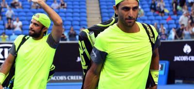 Los tenistas colombianos Juan Sebastián Cabal y Robert Farah fueron eliminados en el Masters 1.000 de Miami, EE.UU.