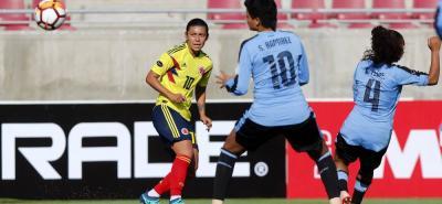 La santandereana Yoreli Rincón aportó un tanto en la victoria de Colombia 7-0 sobre Uruguay en el partido inaugural de la Copa América Femenina que se disputa en Chile.