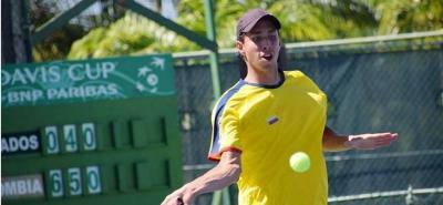 Santandereano Galán es la principal raqueta de Colombia para enfrentar a Brasil en la Davis