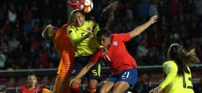 La selección Colombia femenina igualó 1-1 con su similar de Chile en la Copa América que se juega en el país austral.