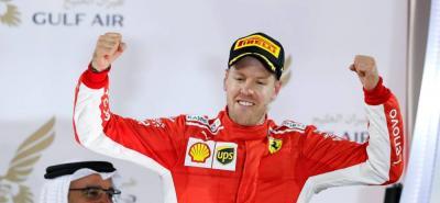 Vettel refuerza su liderato en la Fórmula Uno tras resistir en Barein