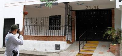 Los hechos ocurrieron frente a la fachada de esta vivienda localizada en la carrera 24 con calle 27 de Girón.