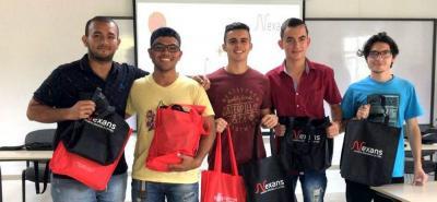 Adonai Rallón, Bryen David Cancimance, Andrés Fernando Arias, Yordan Carrascal y Camilo Andrés Moreno
