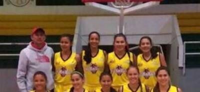 Este es el equipo de Hormigas de Santander que se estrenó el fin de semana pasado en la Copa Especial Femenina de Baloncesto con dos triunfos y una derrota.