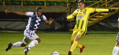 Michael Rangel abrió lo que parecía el camino de la victoria de Atlético Bucaramanga ante Boyacá Chicó, pero el conjunto 'Leopardo' tuvo una irregular presentación y terminó perdiendo 2-1.