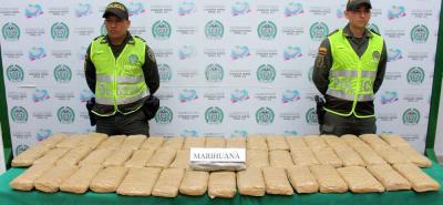 En lo que va corrido de este año, la Policía ha incautado más 180 kilogramos de estupefacientes en el área metropolitana.